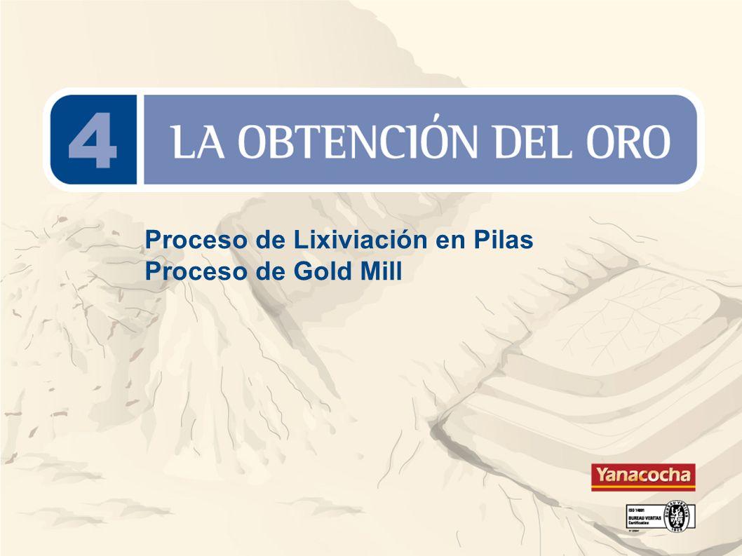 Proceso de Lixiviación en Pilas Proceso de Gold Mill