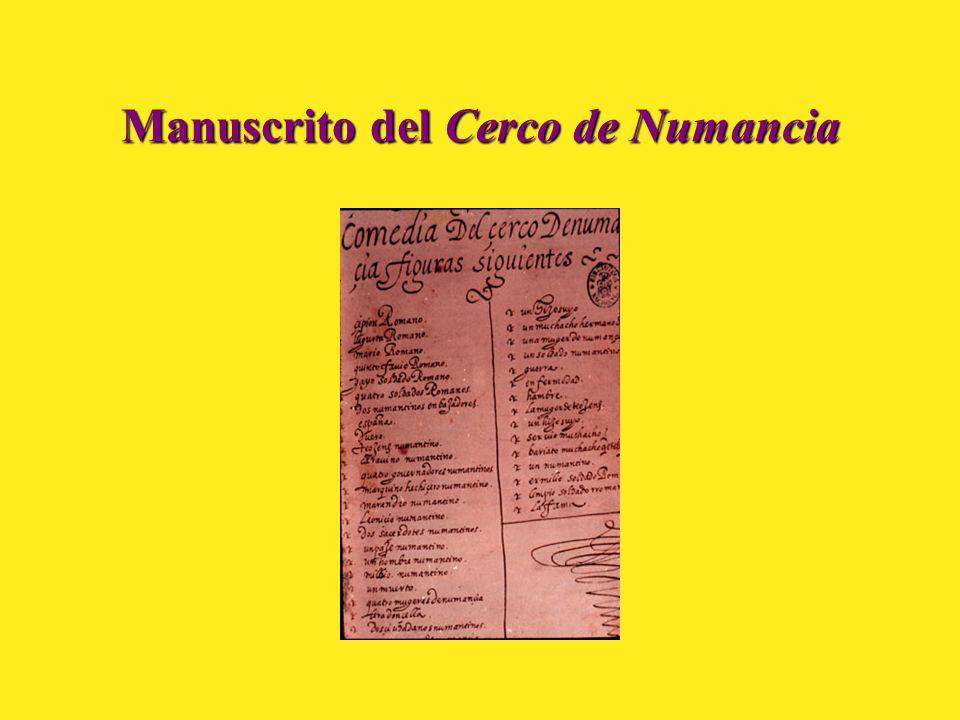 Manuscrito del Cerco de Numancia