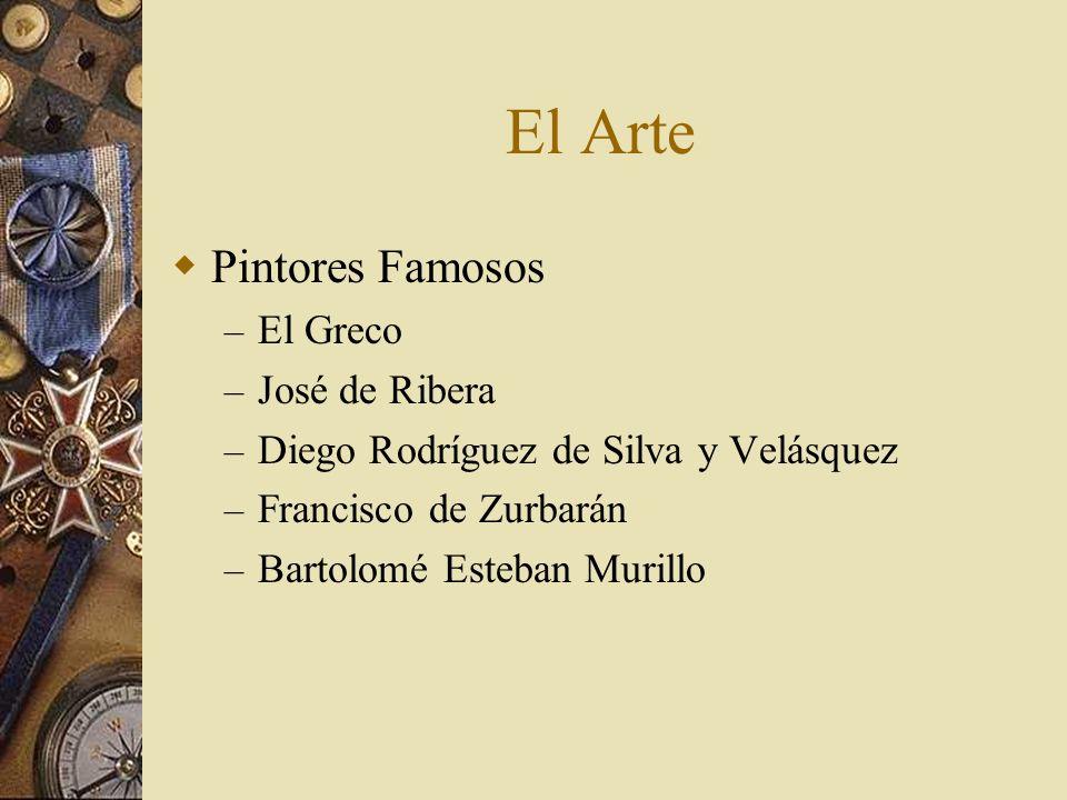 El Arte Pintores Famosos – El Greco – José de Ribera – Diego Rodríguez de Silva y Velásquez – Francisco de Zurbarán – Bartolomé Esteban Murillo