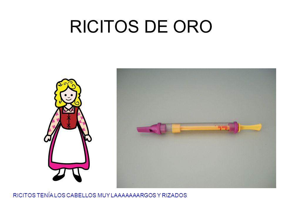 RICITOS DE ORO RICITOS TENÍA LOS CABELLOS MUY LAAAAAAARGOS Y RIZADOS