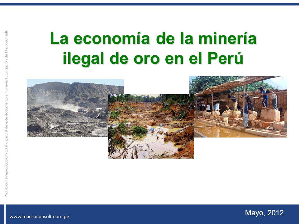 Mayo, 2012 La economía de la minería ilegal de oro en el Perú