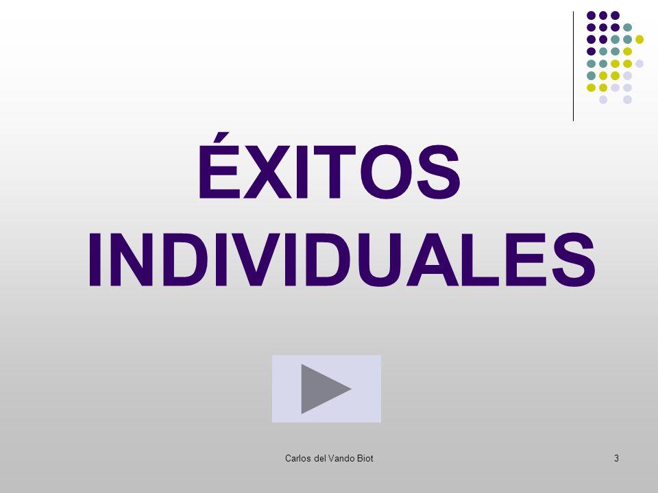 Carlos del Vando Biot3 ÉXITOS INDIVIDUALES