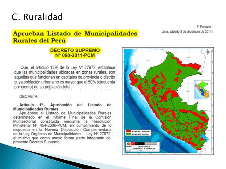 C. Ruralidad