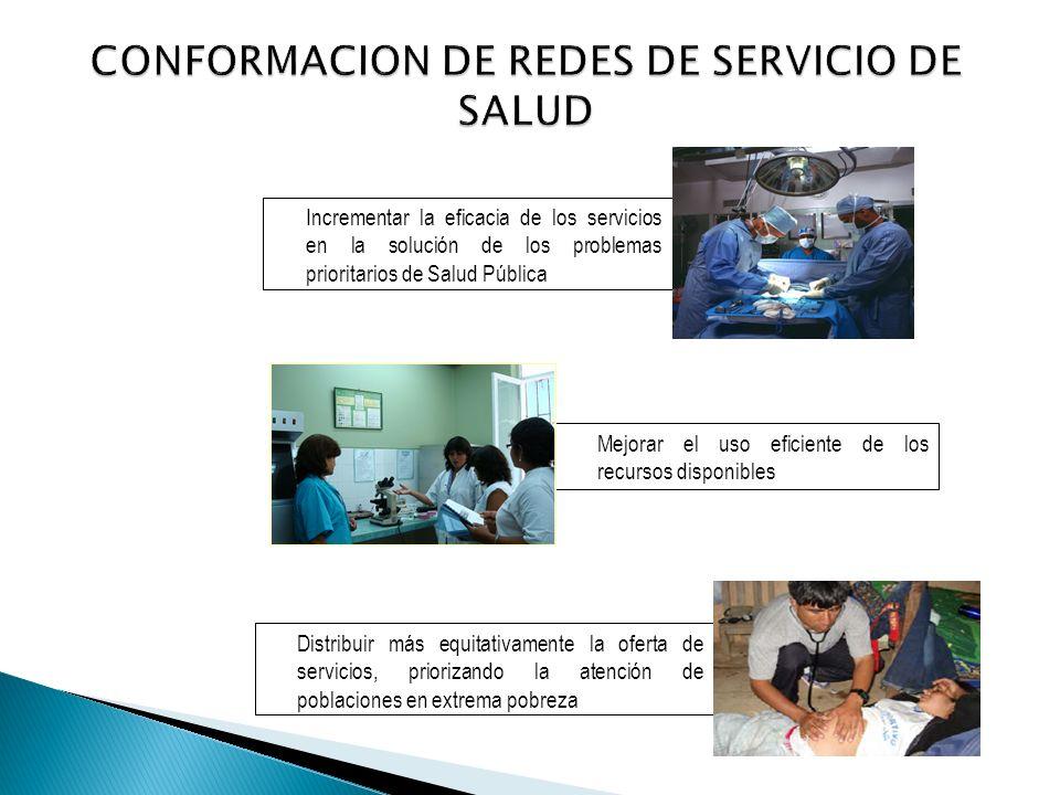 Incrementar la eficacia de los servicios en la solución de los problemas prioritarios de Salud Pública Mejorar el uso eficiente de los recursos dispon