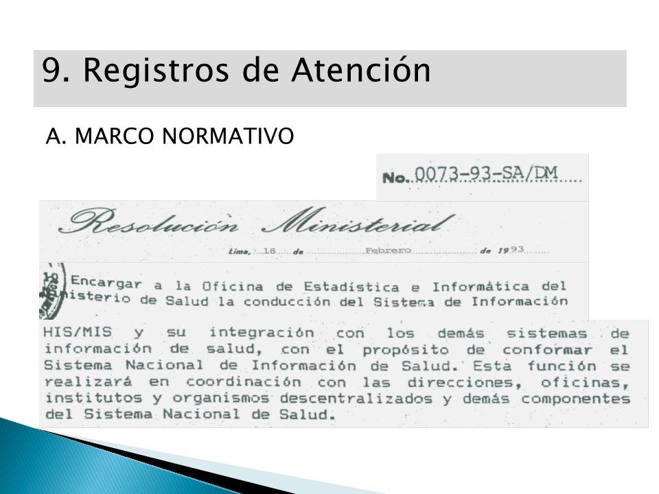 9. Registros de Atención A. MARCO NORMATIVO