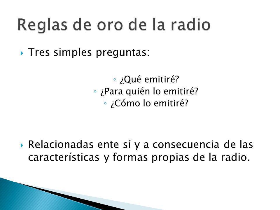 Conocer los hábitos de la audiencia La aceptación de los productos radiofónicos.