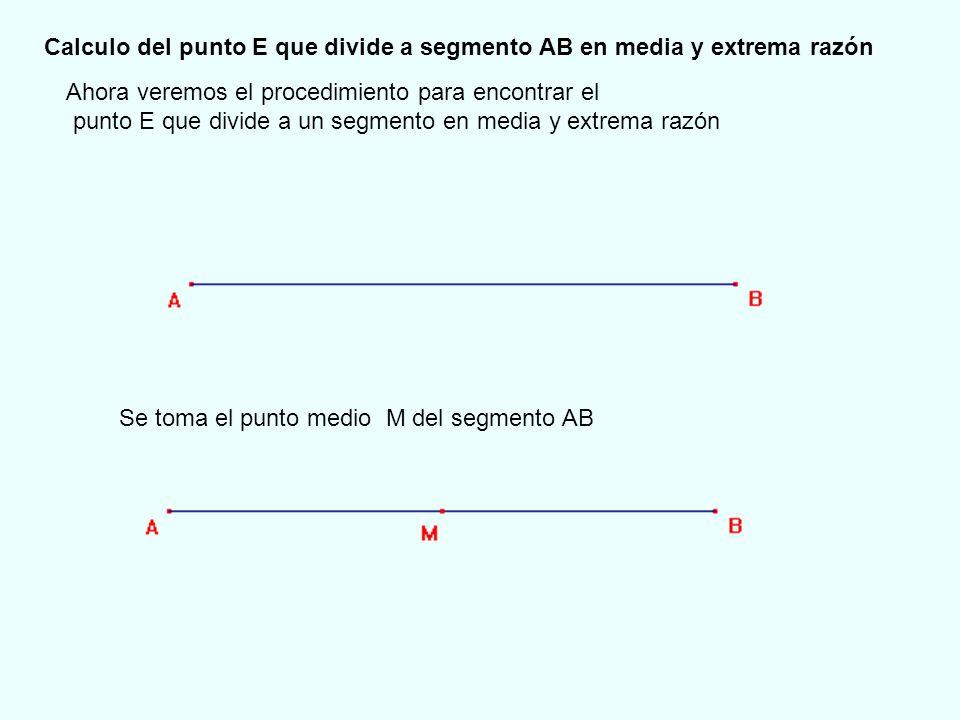 Se traza la perpendicular por uno de los extremos del segmento AB En este caso se ha elegido el punto B