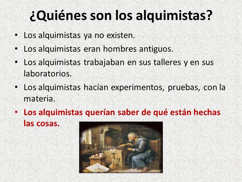 El trabajo de los alquimistas se llama alquimia.Qué es la alquimia.