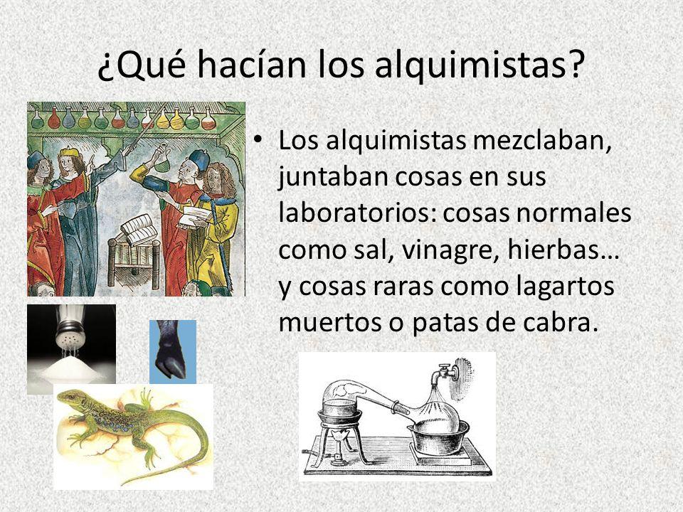 En el siglo XVII todavía hay alquimistas El inglés, Roger Bacon (1561 - 1626) es un científico y filósofo muy importante.