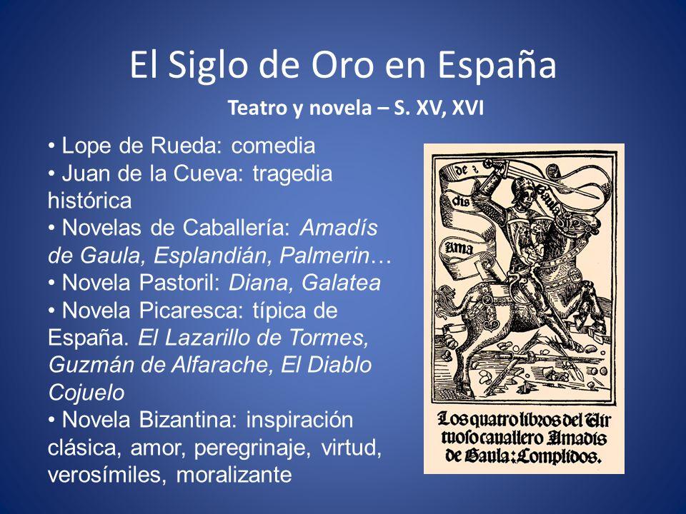 El Siglo de Oro en España Teatro y novela – S.