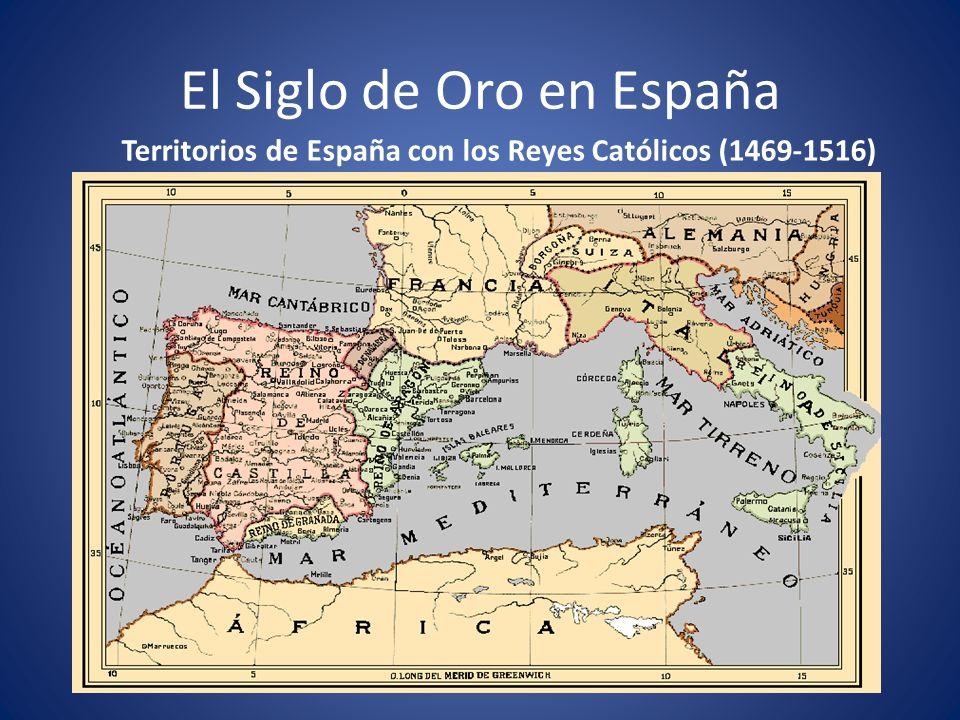 El Siglo de Oro en España Miguel de Cervantes: El Quijote (1605, 1615) Corte de Felipe II en Lisboa.