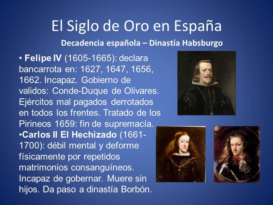 El Siglo de Oro en España Auge de la Literatura – S.