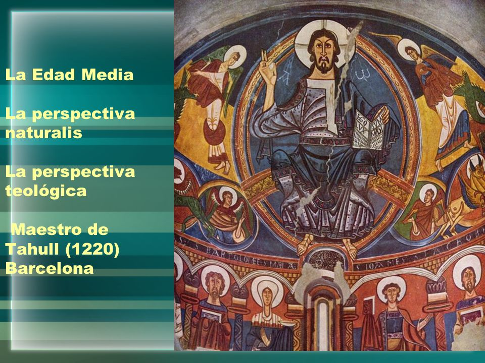 La Edad Media La perspectiva naturalis La perspectiva teológica Maestro de Tahull (1220) Barcelona