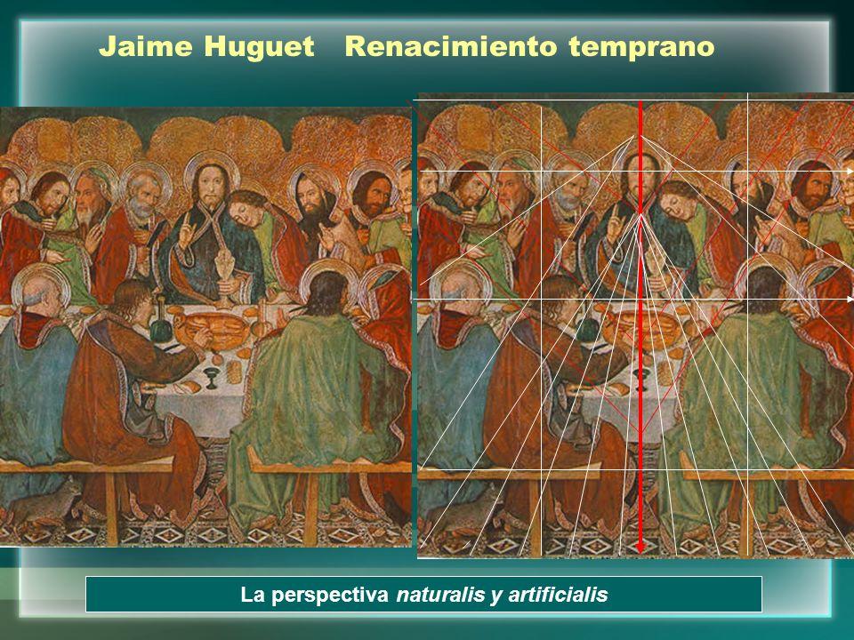Jaime Huguet Renacimiento temprano La perspectiva naturalis y artificialis
