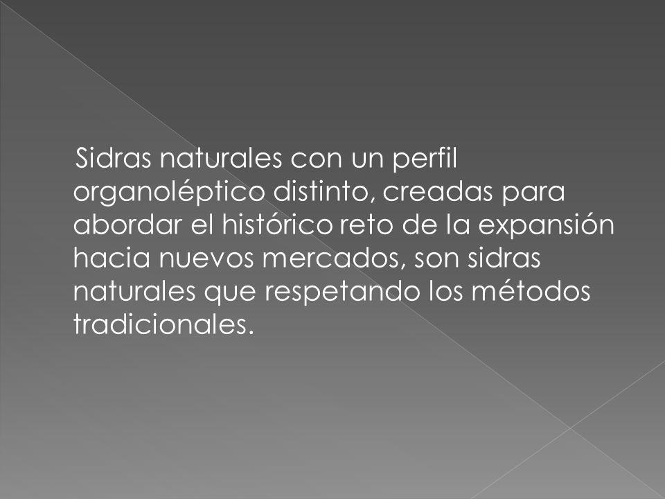 Sidras naturales con un perfil organoléptico distinto, creadas para abordar el histórico reto de la expansión hacia nuevos mercados, son sidras natura