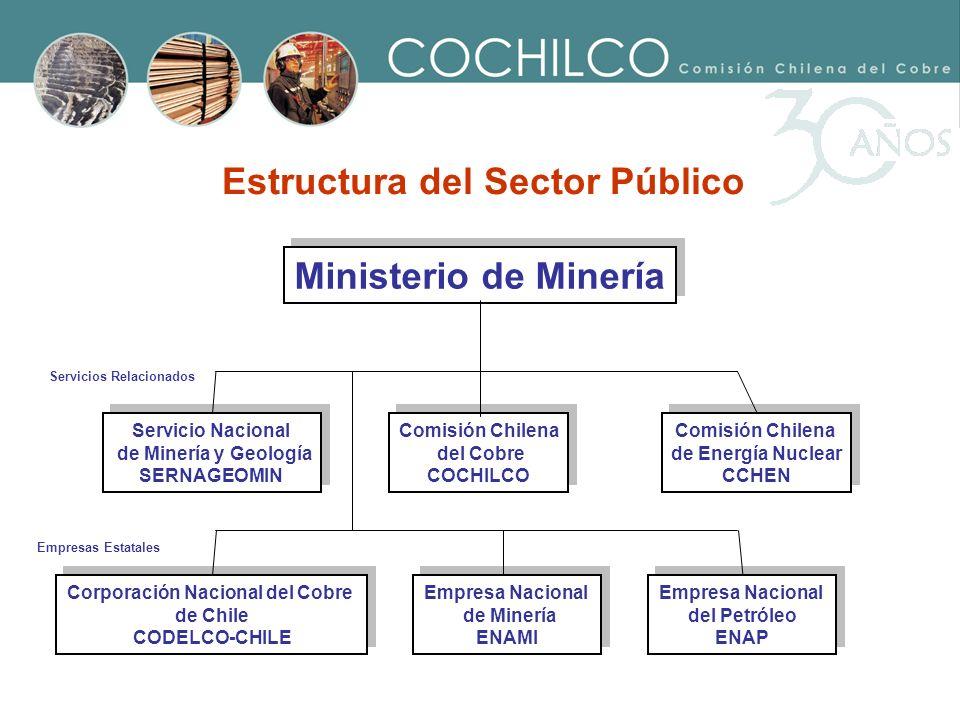 Ministerio de Minería Servicio Nacional de Minería y Geología SERNAGEOMIN Servicio Nacional de Minería y Geología SERNAGEOMIN Comisión Chilena del Cob