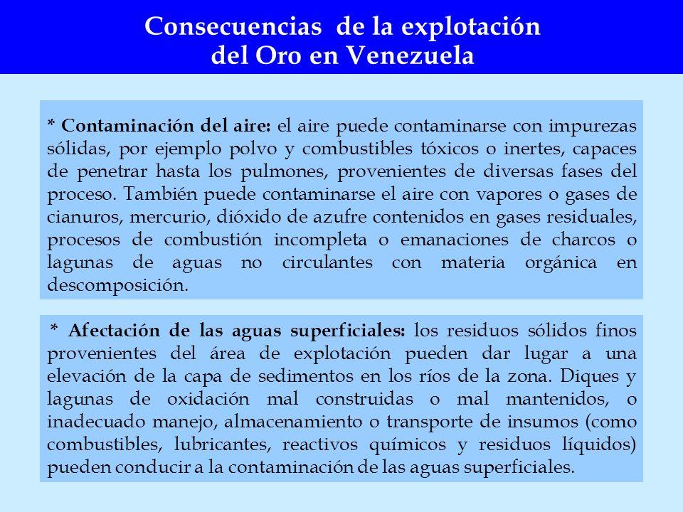 * Contaminación del aire: el aire puede contaminarse con impurezas sólidas, por ejemplo polvo y combustibles tóxicos o inertes, capaces de penetrar ha