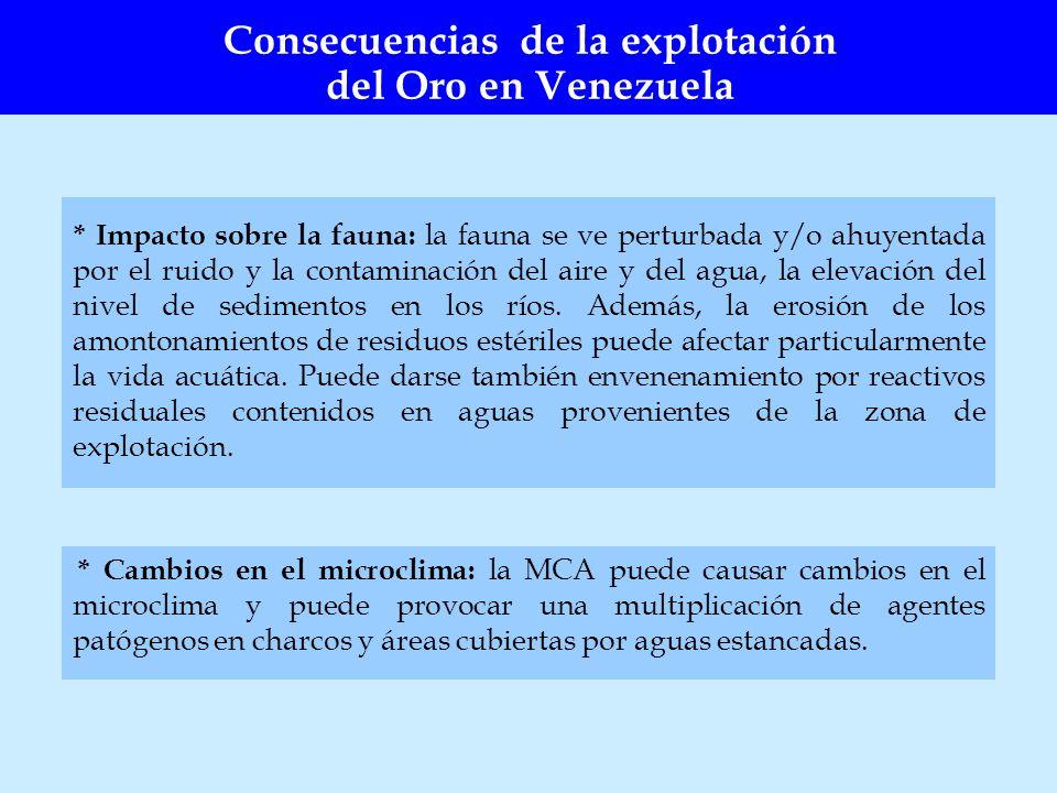 * Impacto sobre la fauna: la fauna se ve perturbada y/o ahuyentada por el ruido y la contaminación del aire y del agua, la elevación del nivel de sedi