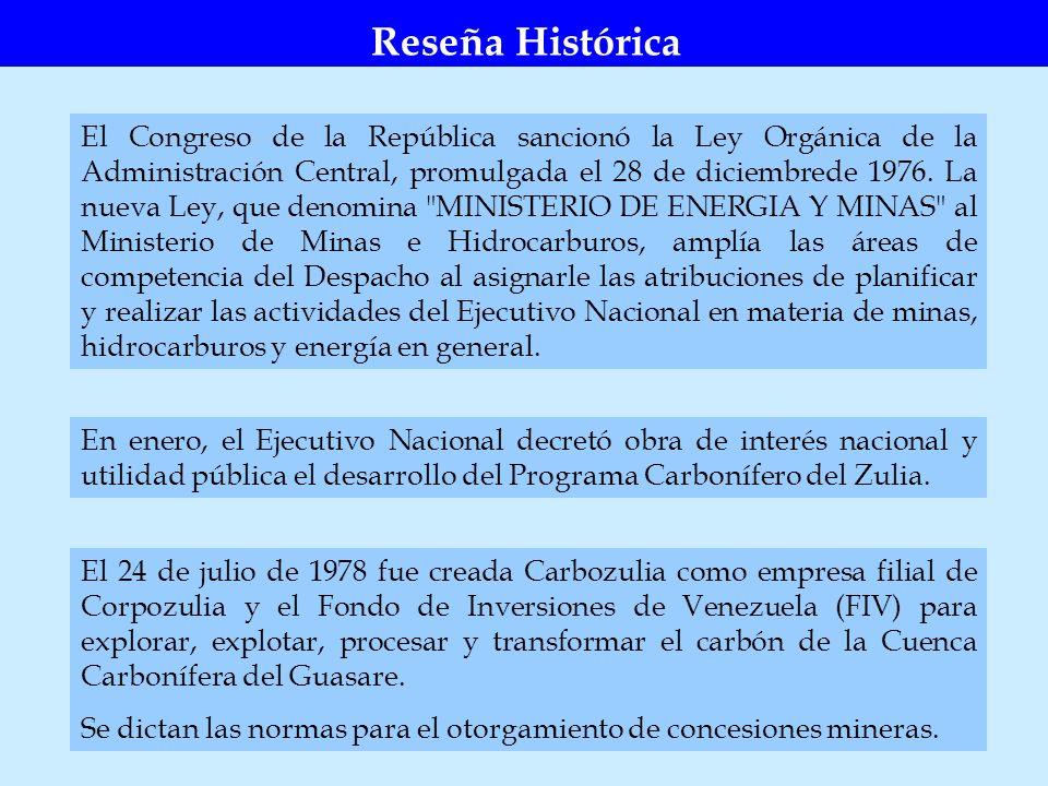 El Congreso de la República sancionó la Ley Orgánica de la Administración Central, promulgada el 28 de diciembrede 1976. La nueva Ley, que denomina