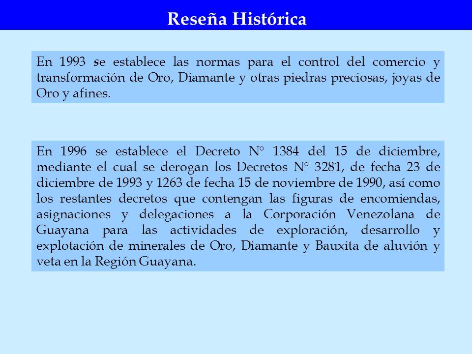 Para 1998 se estableció el Decreto N° 2690 del 14 de septiembre, mediante el cual se elimina la Dirección General de Minas del Ministerio de Energía y Minas, y se crea la Superintendencia Nacional de Minería (SUNAMIN), Servicio Autónomo, sin personalidad jurídica, con rango de Dirección General Sectorial y dependiente del Ministerio de Energía y Minas.