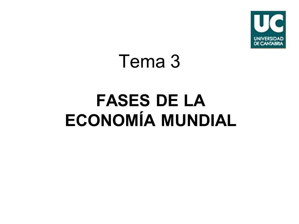Universidad de Cantabria Economía Mundial 2º LE 2 Índice 1.Las fases de Maddison.
