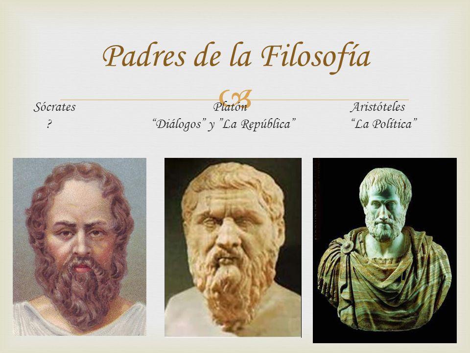Sócrates Platón Aristóteles ? Diálogos y La República La Política Padres de la Filosofía