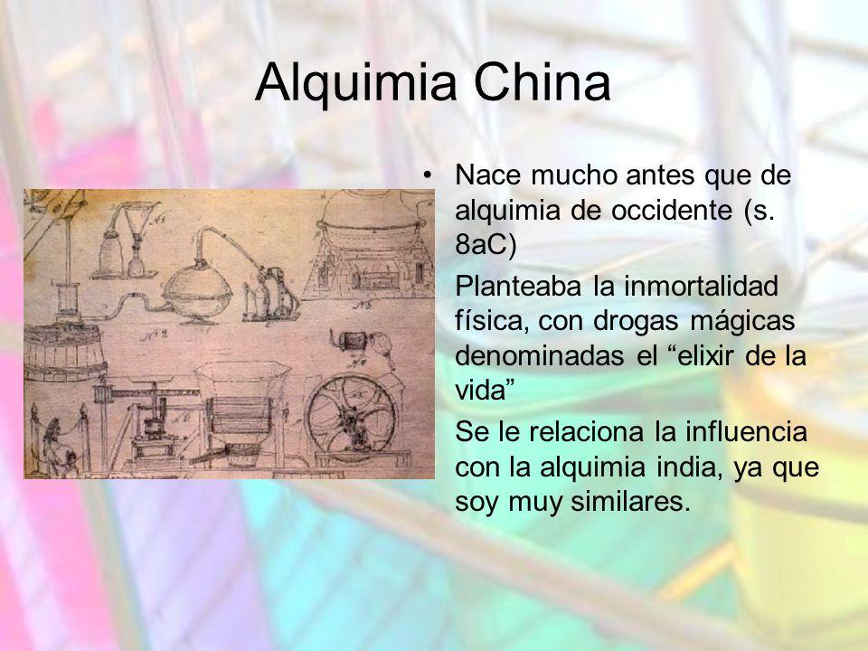 Alquimia China Nace mucho antes que de alquimia de occidente (s.