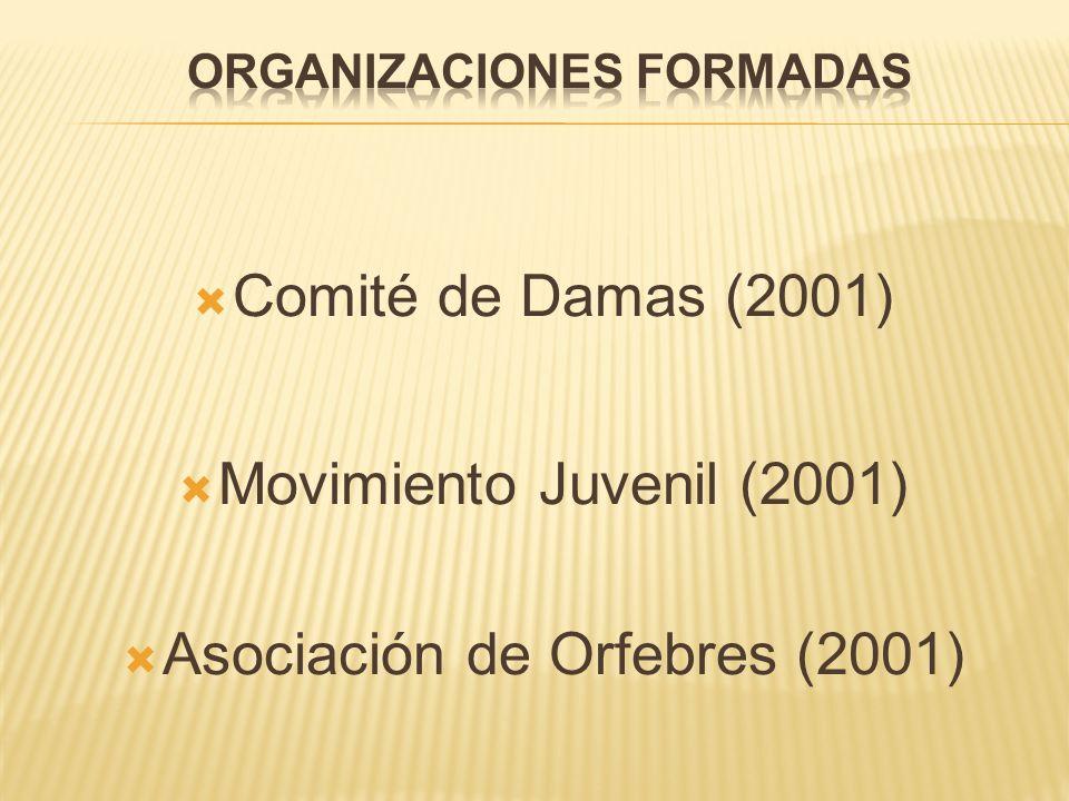 Comité de Damas (2001) Movimiento Juvenil (2001) Asociación de Orfebres (2001)
