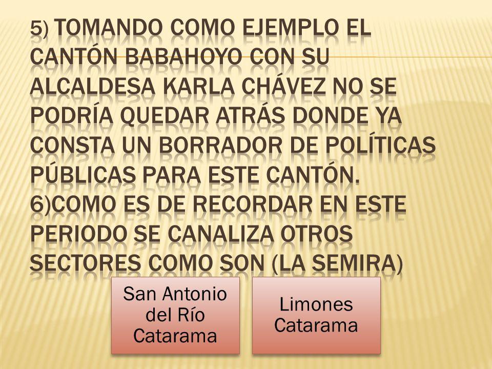 San Antonio del Río Catarama Limones Catarama