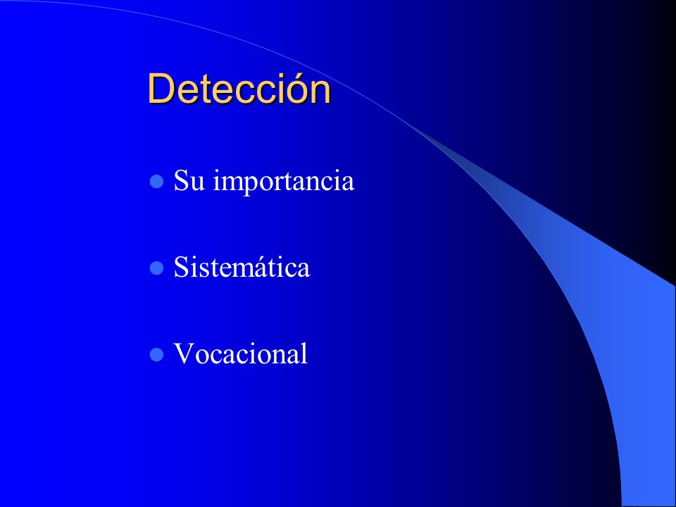 Diagnóstico Necesidad de nuevos, muy buenos jugadores Producir esos jugadores: detección y desarrollo Su inserción en el rendimiento