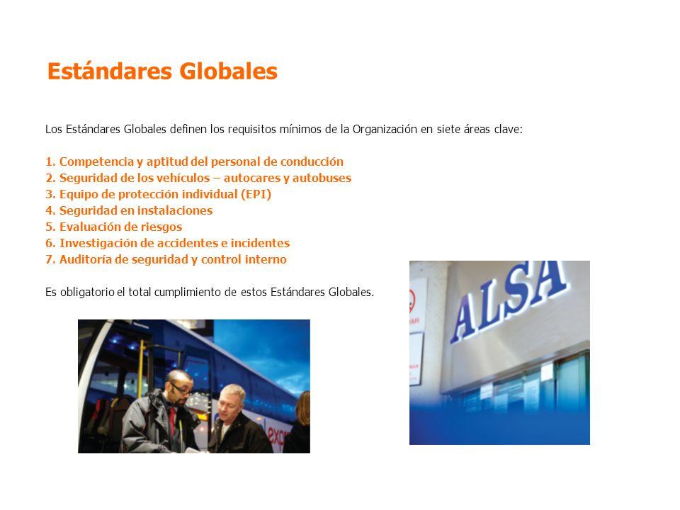 Estándares Globales Los Estándares Globales definen los requisitos mínimos de la Organización en siete áreas clave: 1.