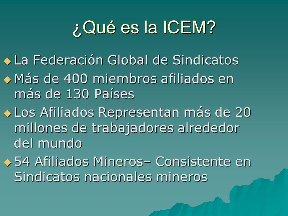 La Federación Global de Sindicatos La Federación Global de Sindicatos Más de 400 miembros afiliados en más de 130 Países Más de 400 miembros afiliados