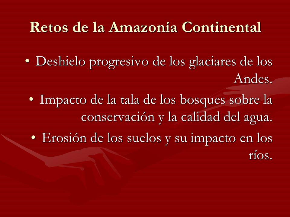 Retos de la Amazonía Continental Deshielo progresivo de los glaciares de los Andes.Deshielo progresivo de los glaciares de los Andes. Impacto de la ta