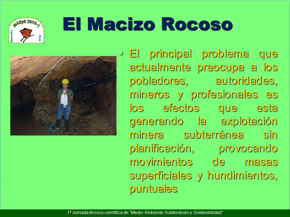 El Macizo Rocoso El principal problema que actualmente preocupa a los pobladores, autoridades, mineros y profesionales es los efectos que esta generan