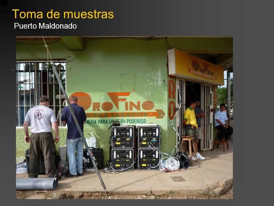 . Toma de muestras Puerto Maldonado