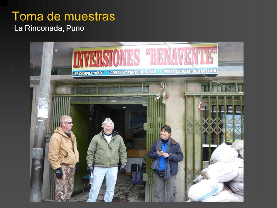 . Toma de muestras La Rinconada, Puno