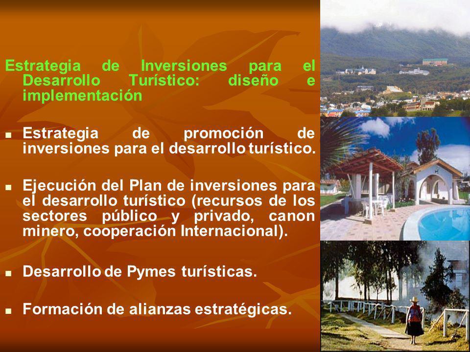 Estrategia de Inversiones para el Desarrollo Turístico: diseño e implementación Estrategia de promoción de inversiones para el desarrollo turístico. E