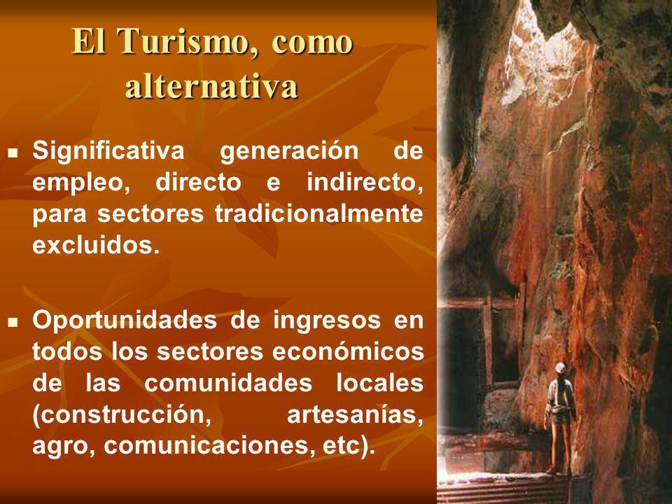 El Turismo, como alternativa Significativa generación de empleo, directo e indirecto, para sectores tradicionalmente excluidos. Oportunidades de ingre