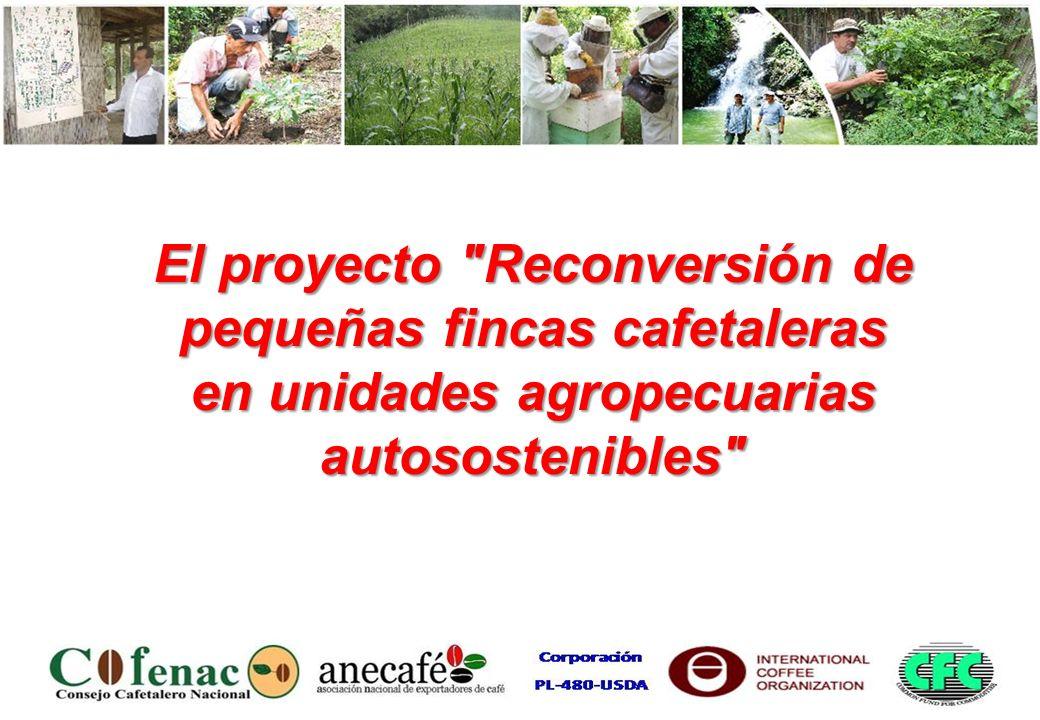 Título: Reconversión de pequeñas fincas cafetaleras en unidades familiares agropecuarias autosostenibles Número: CFC / ICO /31 Organismo de Ejecución del Proyecto: Consejo Cafetalero Nacional del Ecuador (COFENAC) Instituciones Colaboradoras Asociación Nacional de Exportadores de Café (ANECAFE) Corporación PL-480-USDA Fecha de inicio: 01 de octubre del 2007 Fecha de conclusión: 30 de septiembre del 2011 Corte del informe:24 meses de ejecución RESEÑA DEL PROYECTO
