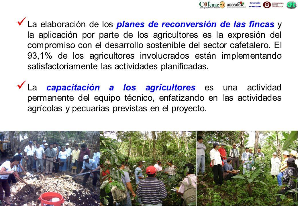 La elaboración de los planes de reconversión de las fincas y la aplicación por parte de los agricultores es la expresión del compromiso con el desarro