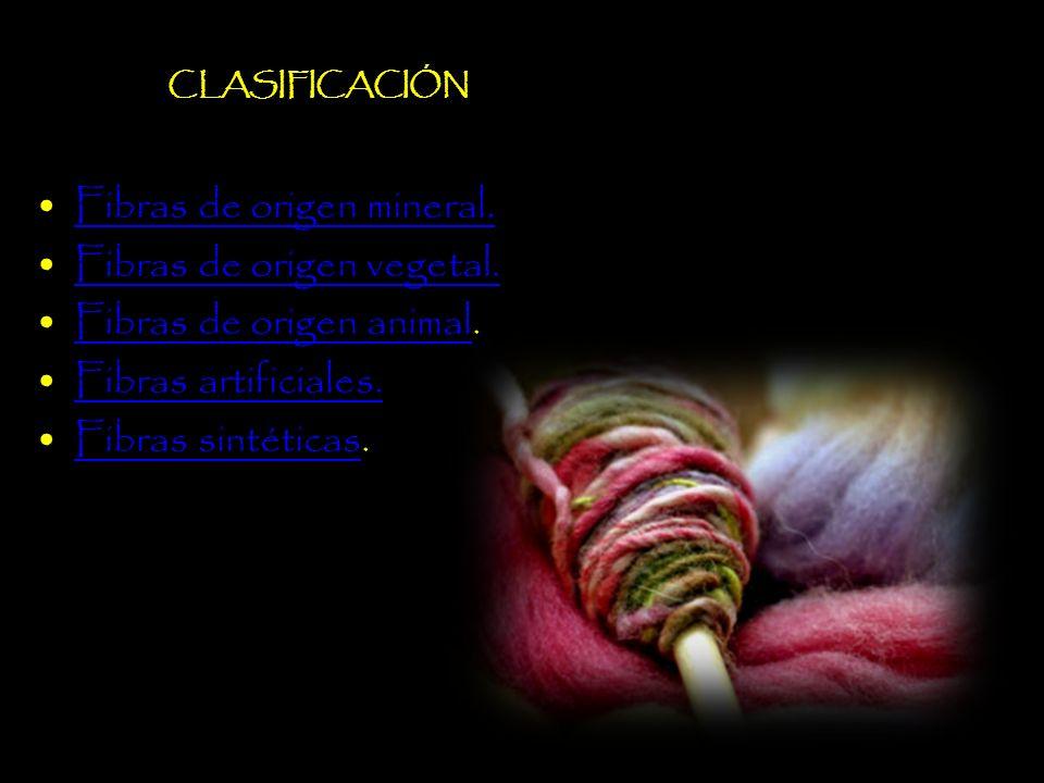 Fibras de origen mineral.Fibras de origen vegetal.
