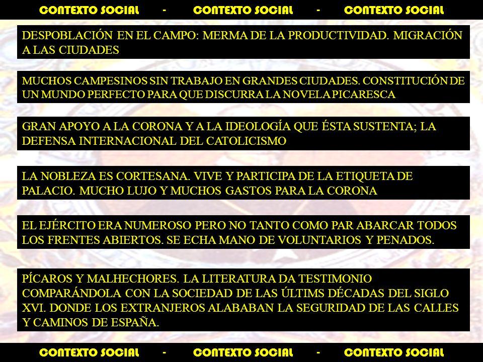 CONTEXTO SOCIAL - CONTEXTO SOCIAL - CONTEXTO SOCIAL DESPOBLACIÓN EN EL CAMPO: MERMA DE LA PRODUCTIVIDAD.