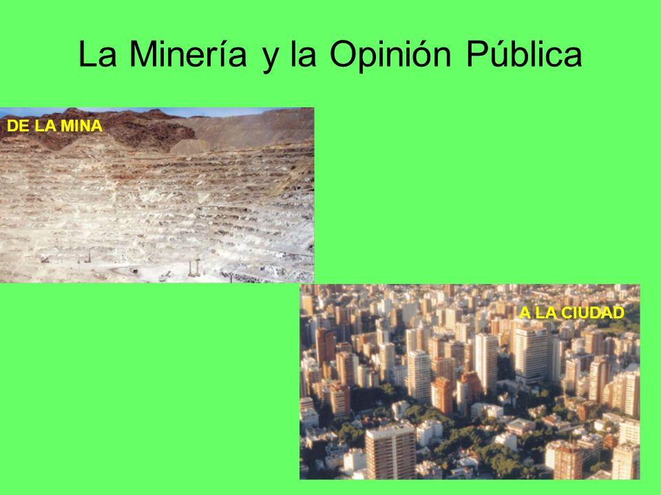 La Minería y la Opinión Pública A LA CIUDAD DE LA MINA