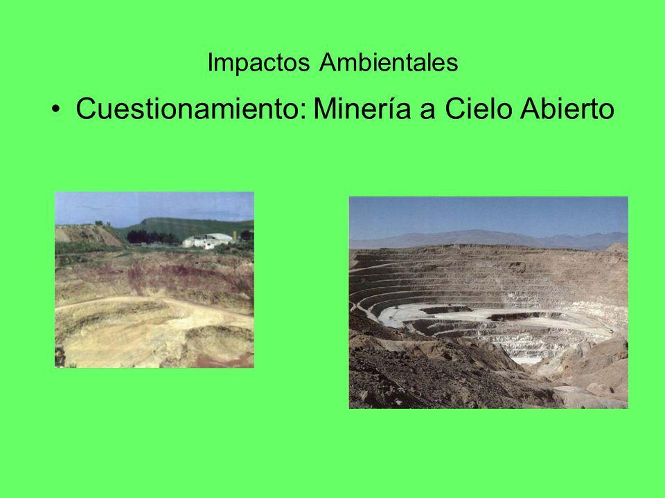 Impactos Ambientales Cuestionamiento: Minería a Cielo Abierto