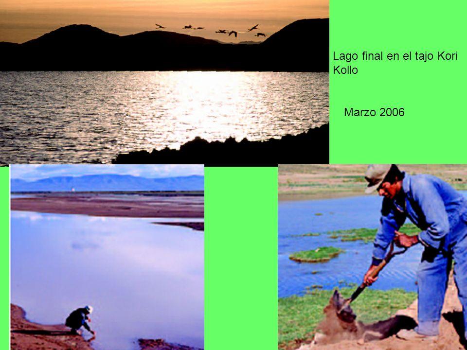 Lago final en el tajo Kori Kollo Marzo 2006