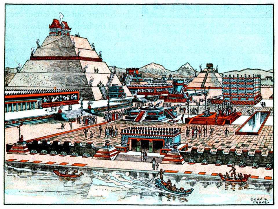 Al llegar al Valle de México el 8 de Noviembre de 1519, el ejército compuesto por 400 españoles, 3 000 tlaxcaltecas y 40 caballos, entró en Tenochtitlan, la capital construida en un lago y unida a tierra por tres caminos.