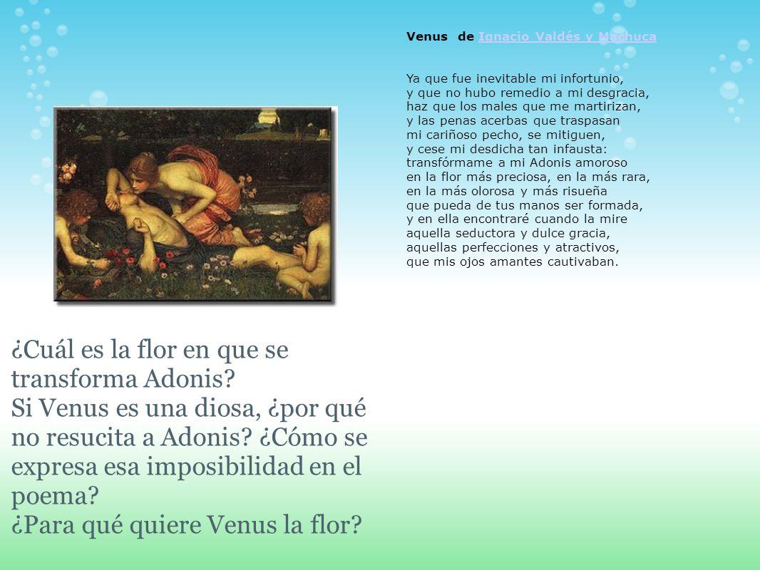 Venus de Ignacio Valdés y MachucaIgnacio Valdés y Machuca Ya que fue inevitable mi infortunio, y que no hubo remedio a mi desgracia, haz que los males