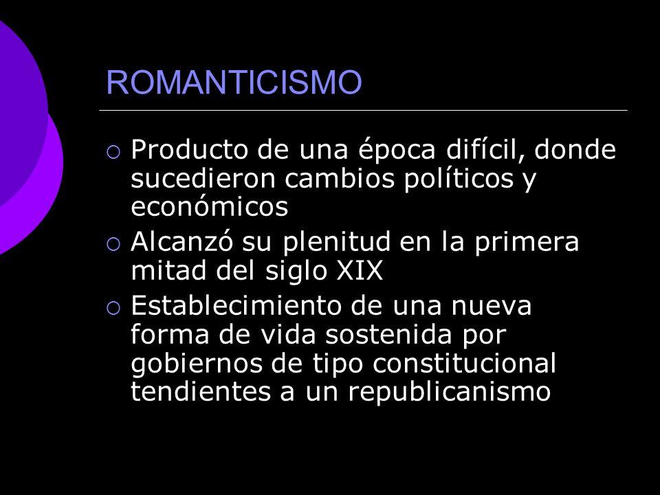 ROMANTICISMO CONTEXTO HISTÓRICO
