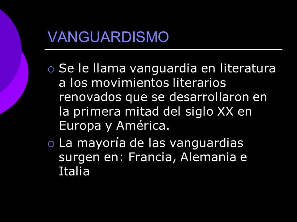 VANGUARDISMO CONTEXTO HISTÓRICO