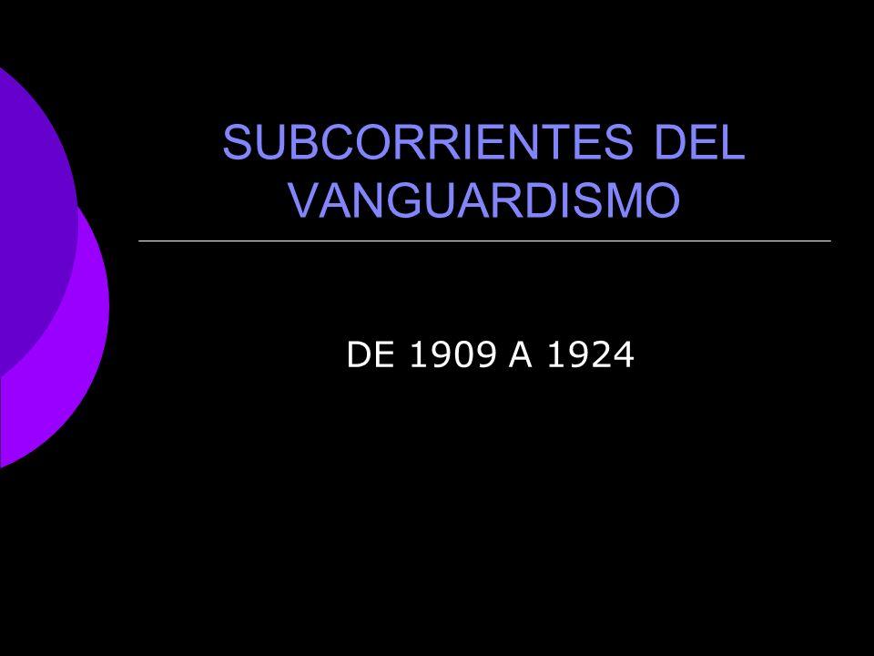 VANGUARDISMO Se le llama vanguardia en literatura a los movimientos literarios renovados que se desarrollaron en la primera mitad del siglo XX en Europa y América.